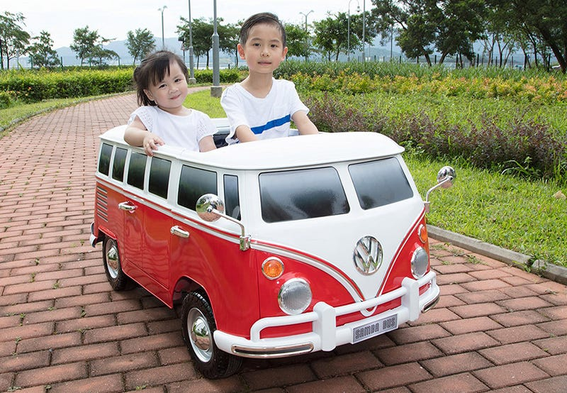 Illustration for article titled This Miniature Ride-On VW Van Lets Your Kids Take a Year Off Preschool to Go Find Themselves