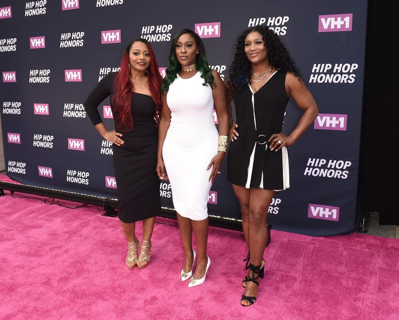 "Leanne ""Lelee"" Lyons, Cheryl ""Coko"" Gamble, and Tamara ""Taj"" George of SWV attend the VH1 Hip Hop Honors: All Hail the Queens at David Geffen Hall on July 11, 2016, in New York City.  Nicholas Hunt/Getty Images for VH1"