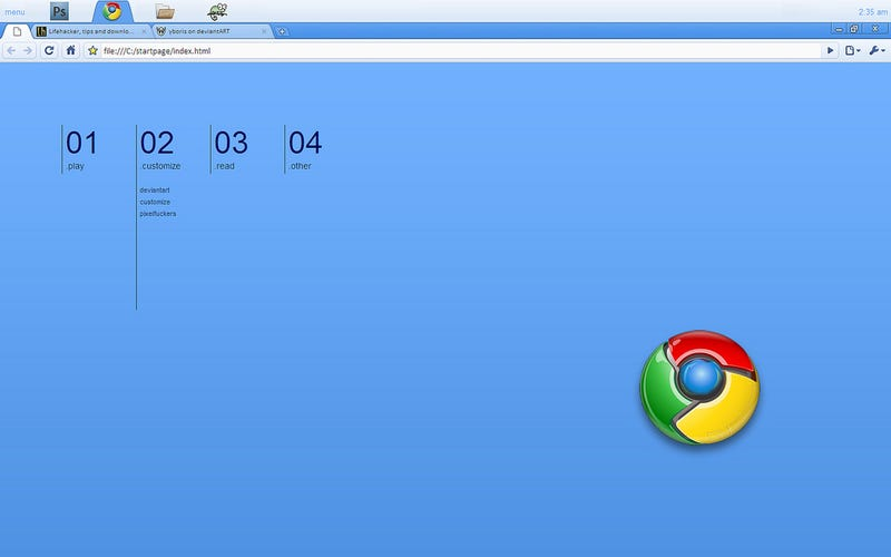 "Illustration for article titled The ""ChromeOS"" LiteStep Desktop"