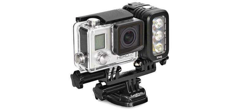 A High Intensity Video Light Lets Your GoPro See In the Dark