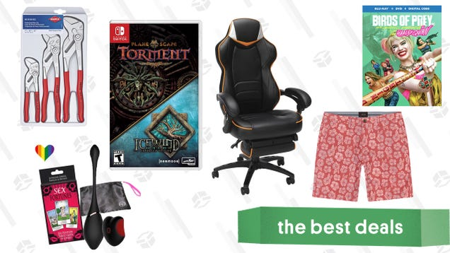 Saturday s Best Deals: Birds of Prey, Gaming Chairs, Stylish Chinos, and More