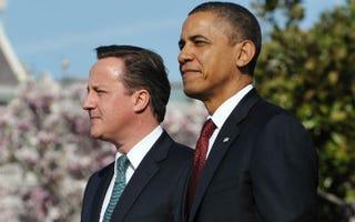 David Cameron with President Barack Obama (Mandel Ngan/AFP/Getty Images)