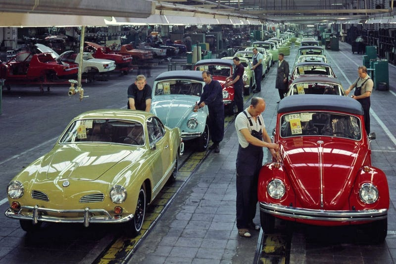Illustration for article titled I Believe I Found a Picture of the Karmann Factory...
