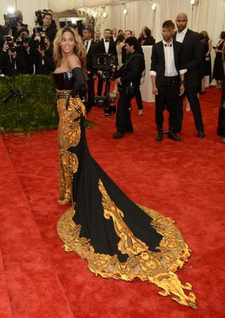 Beyoncé, honorary chairwoman, arrives at the Metropolitan Museum of Art's Costume Institute Gala benefit May 6, 2013, in New York City.TIMOTHY A. CLARY/AFP/Getty Images