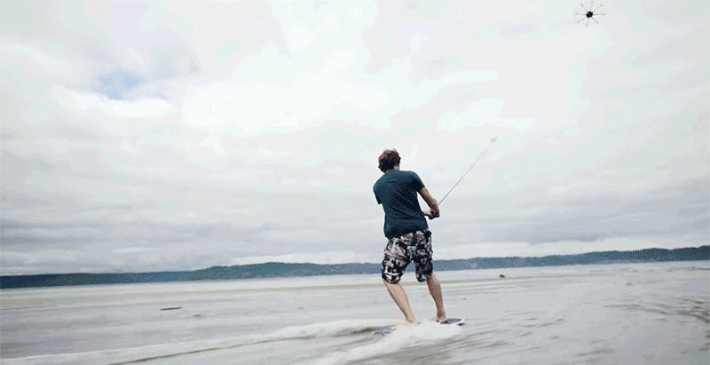 You Don't Need Waves When You're Surfing With a Drone