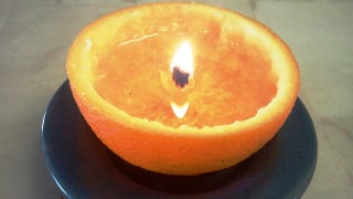 Illustration for article titled Convert an Orange Into a Candle with a Little Kitchen Oil