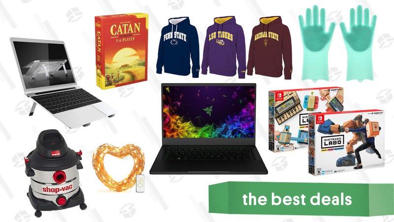 Friday's Best Deals: PlayStation Plus, Razer Laptop, Catan, Nintendo Labo, Shop-Vac, and More