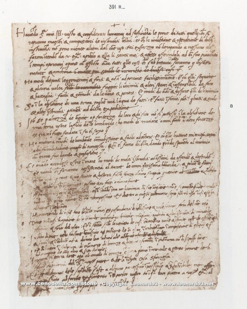 leonardo da vinci s hand written resume will make you feel inadequate