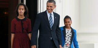President Obama and daughters Malia and Sasha (Mark Wilson/Getty Images News)