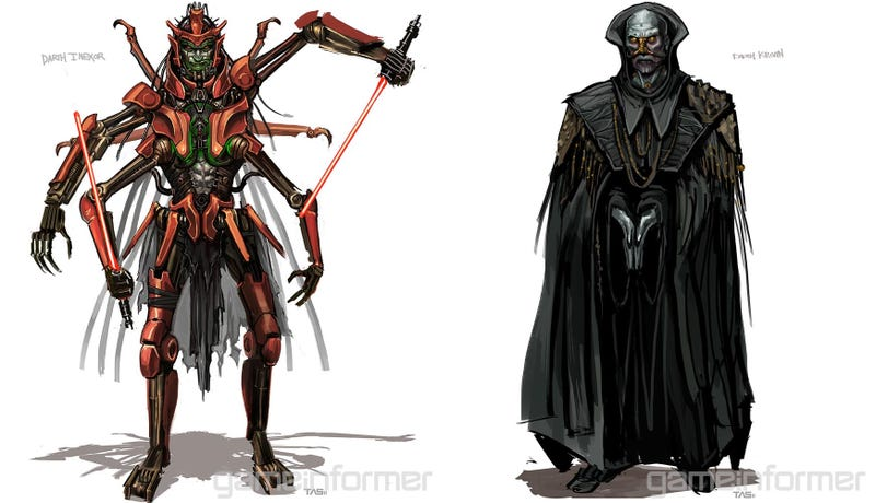 Illustration for article titled Concept Art From The Canceled Darth Maul Video Game