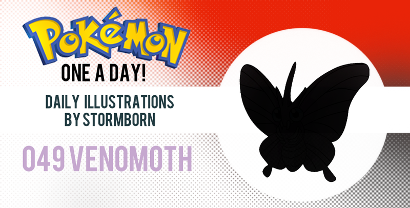 Illustration for article titled Let's look at Venomoth!  Pokemon One a Day!