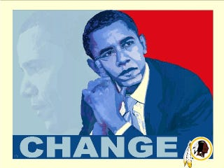 "Illustration for article titled President Obama: I'd ""Think About Changing"" Redskins Nickname"