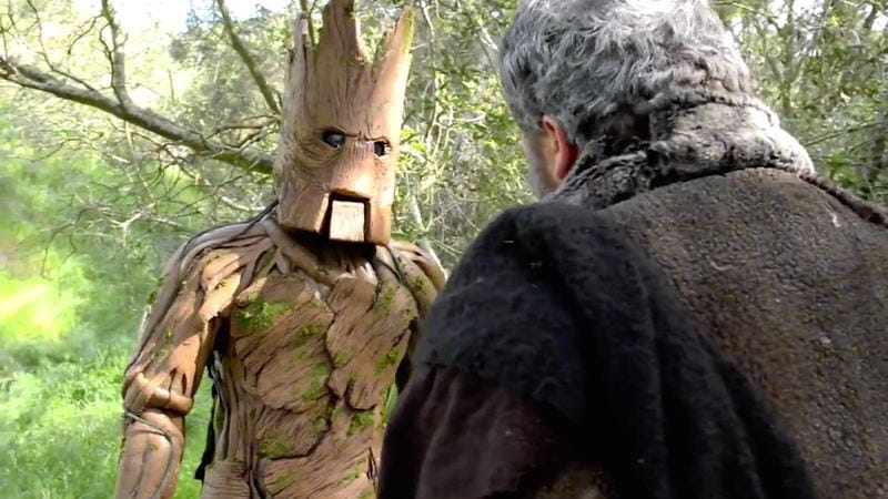 Illustration for article titled Groot and Hodor drop very few words in this epic rap battle