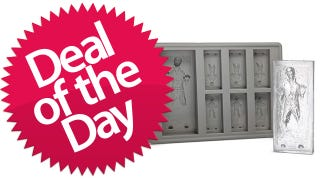 Illustration for article titled Han Solo in Carbonite Ice Tray is the Geekaholic Deal of the Day