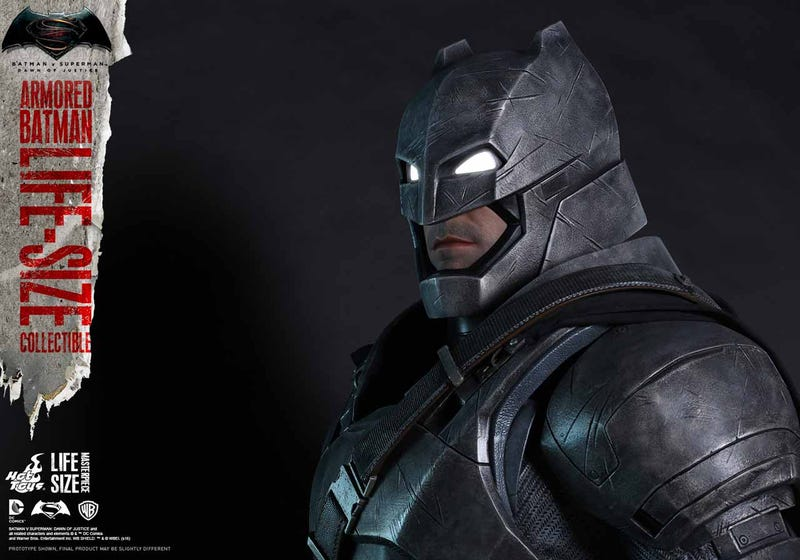 Illustration for article titled Good God, Hot Toys Is Doing Life-Size Figures, Starting with BvS' Armored Batman