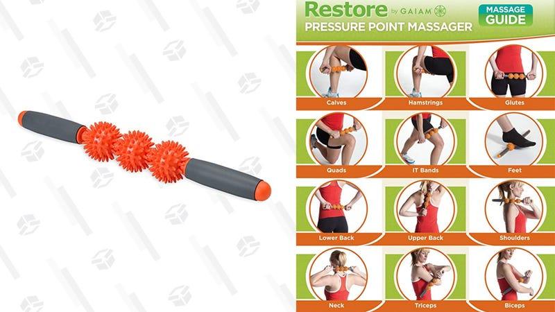 Gaiam Restore Pressure Point Massage Roller   $8   Amazon
