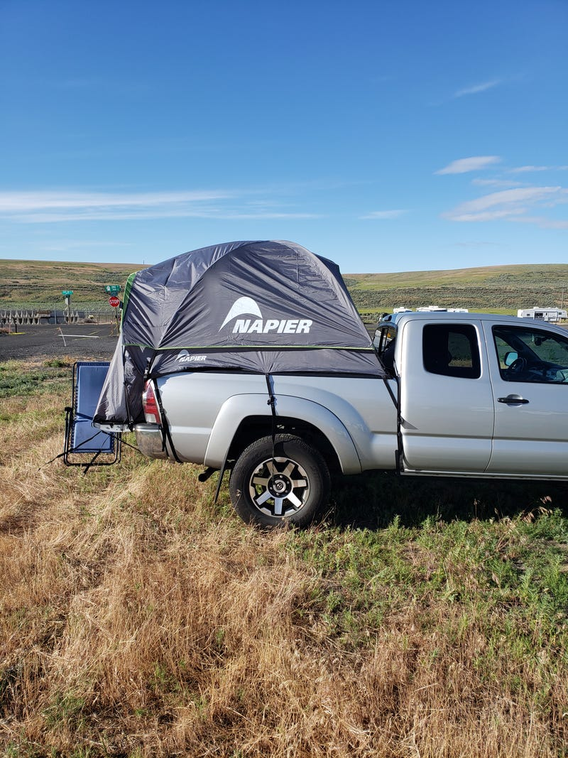 Illustration for article titled Truck tent review: now with pics