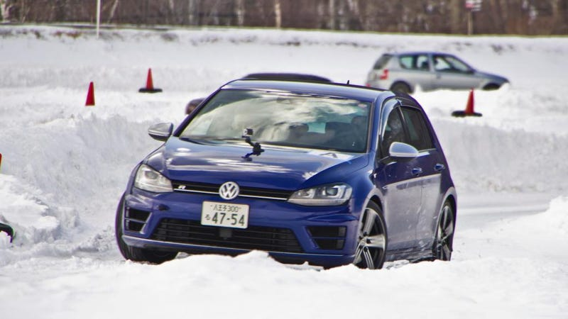 Illustration for article titled Fun2Drive Winter Jam - VW Golf R Passenger Ride - Video