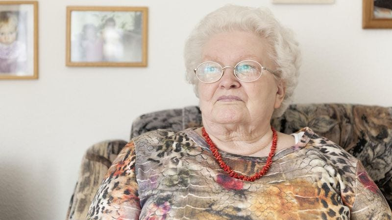 Illustration for article titled Elderly Woman Relieved To Know She's Tackled Last Technological Advancement Of Lifetime