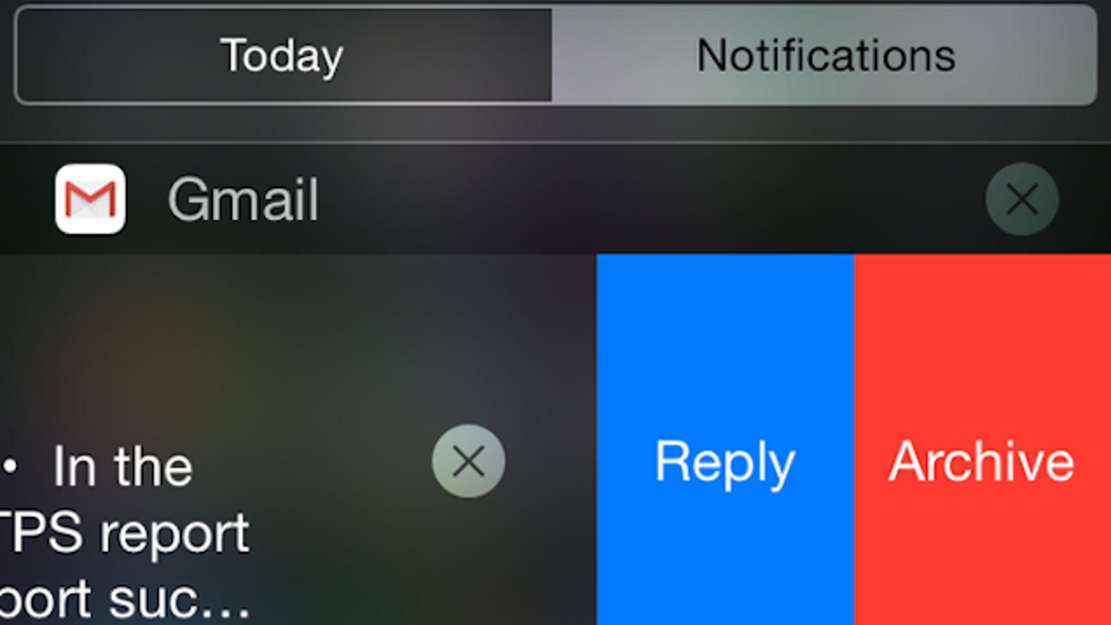 Gmail for iOS Gets Reply and Archive Actions from