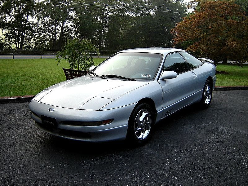 Heres To The Ford Probe GT Car That Looks And Is Equipped Remarkably Like Todays Turbo Four Cylinder Sports Cars With 2015 Mustang Reputedly