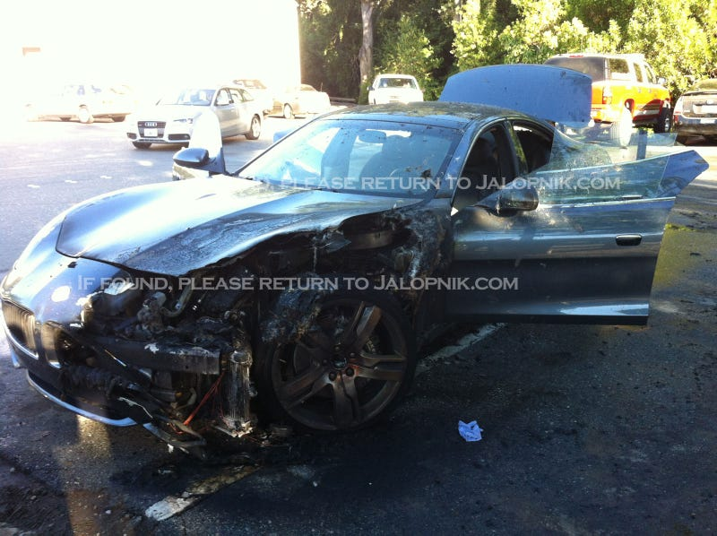 Illustration for article titled EXCLUSIVE: Fisker Karma Fire Pics