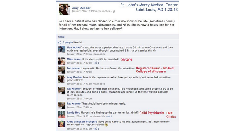 Illustration for article titled Uh-Oh: OB-GYN Complains About Patient on Facebook