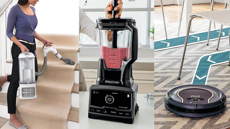 Shark Navigator Lift-Away Professional | $120 | AmazonShark IONFlex 2X DuoClean Cordless Ultra-Light Vacuum | $227 | Amazon Shark ION Robot Vacuum WIFI-Connected | $210 | AmazonNinja Chef Countertop Blender with 1500-Watt Auto-iQ Base | $100 | AmazonNinja Coffee Bar Auto-iQ Programmable Coffee Maker | $100 | AmazonNinja Auto-iQ Multi/Slow Cooker with 80-Pre-Programmed Auto-iQ Recipes | $66 | Amazon