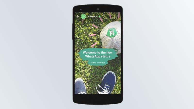 Illustration for article titled WhatsApp activa en España los nuevos estados al estilo Snapchat
