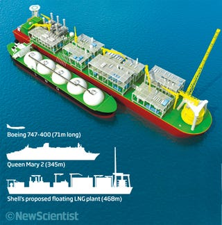 Illustration for article titled Shell Wants to Build the Longest Vessel Ever to Skim the Water's Surface
