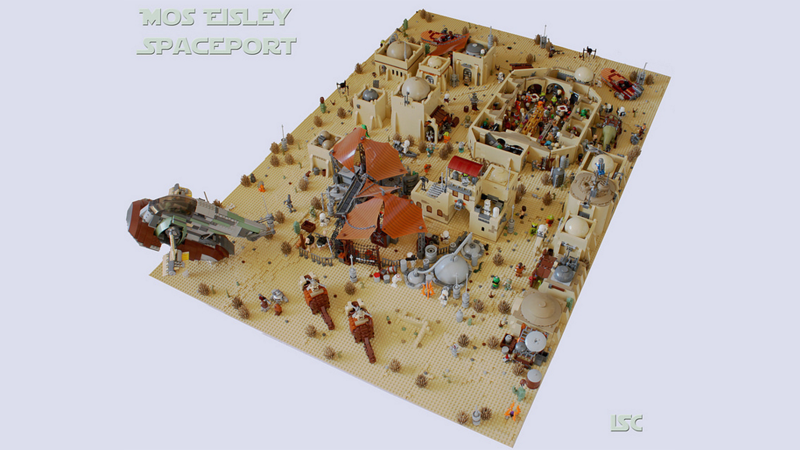 Illustration for article titled No One's Missing From This Fan-Made LEGO Mos Eisley Spaceport
