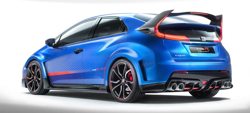 Illustration for article titled The 276 HP Honda Civic Type R Will Be The Most Extreme Honda Ever Made