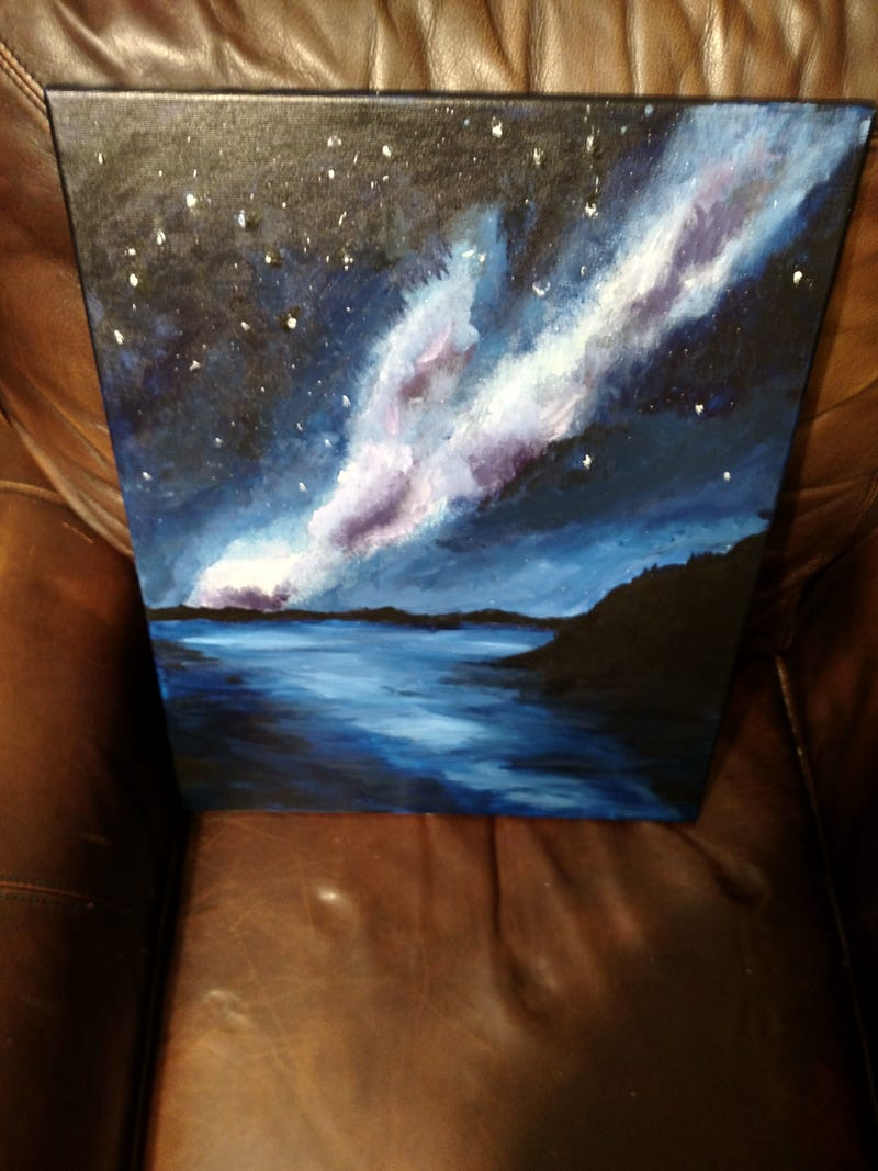 Illustration for article titled New Painting: Milky Way Lake