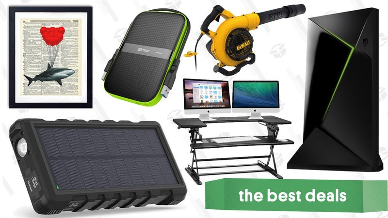 Illustration for article titled Thursday's Best Deals: NVIDIA Shield TV, Solar Battery Pack, Dictionary Art Prints, and More