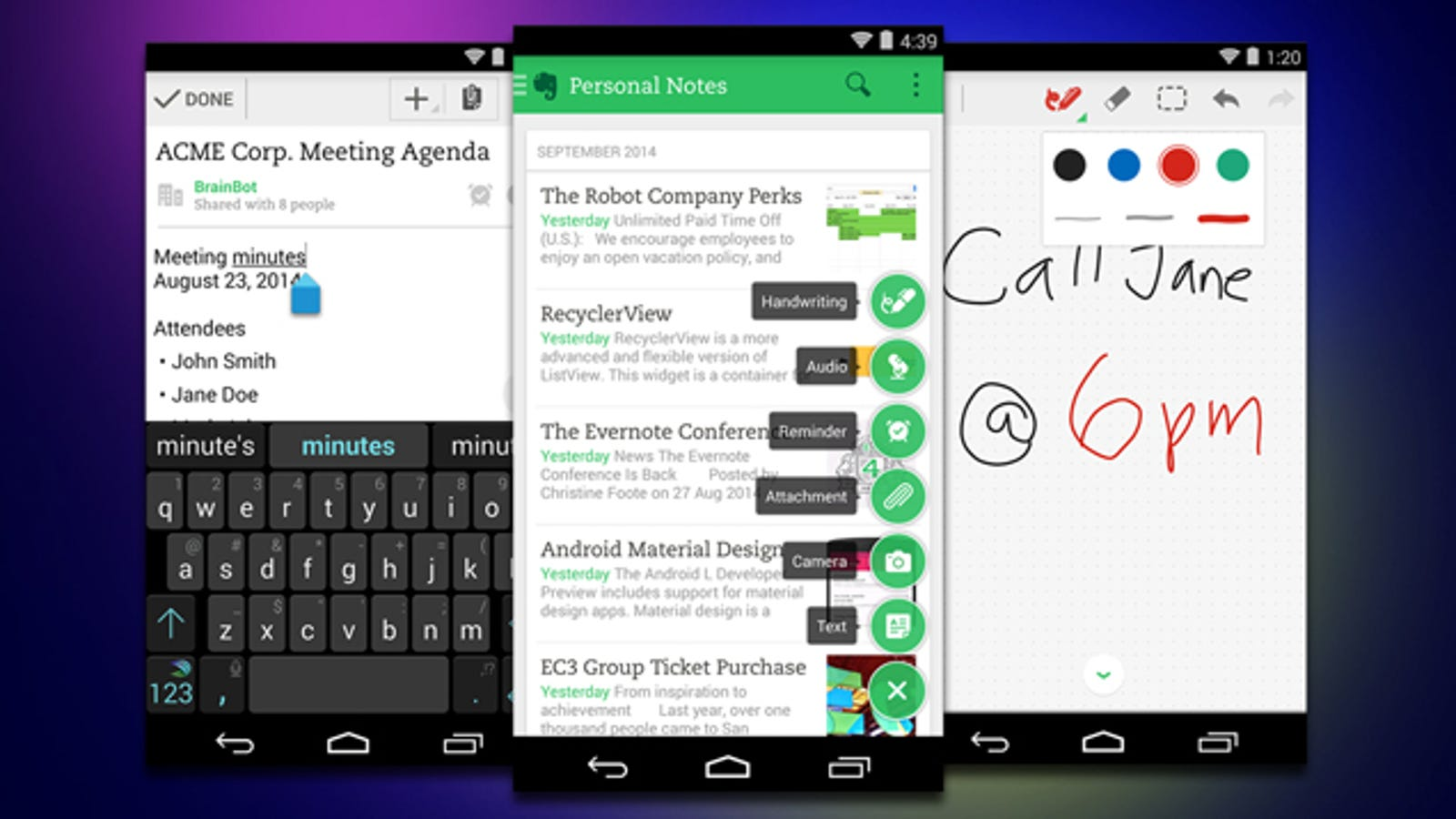 Evernote 6 for Android Overhauls Interface, Adds Mobile Web