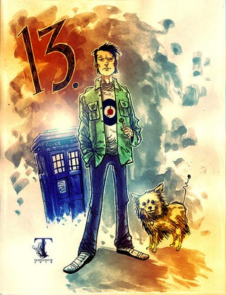 Illustration for article titled The final Doctor, as visualized by Ben Templesmith