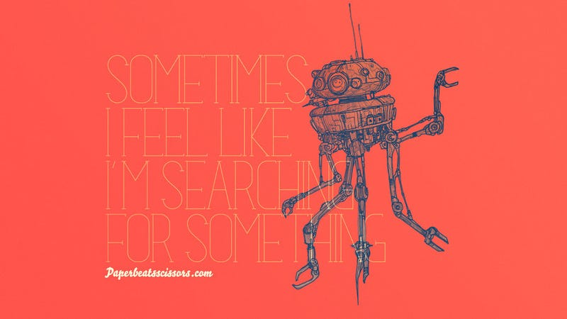Illustration for article titled Droids Have Feelings too, You Know. Even When They're Not the Droids You're Looking for.