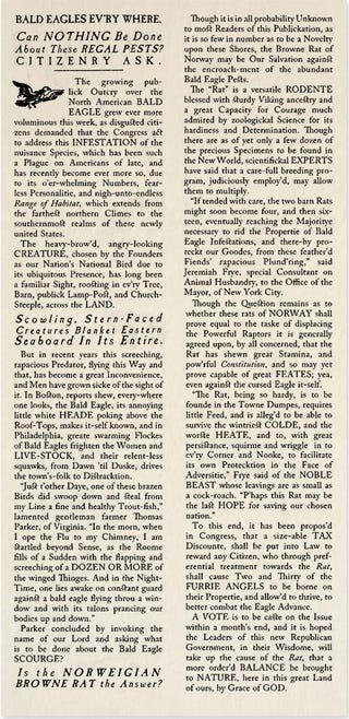 Illustration for article titled Historical Archives: Bald Eagles Evr'y Where