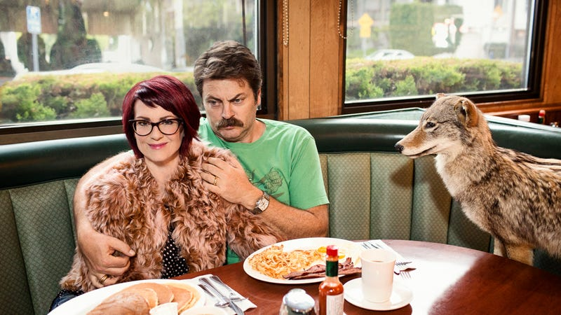 Illustration for article titled The Hilarious, Occasionally Noxious, Marriage of Nick Offerman & Megan Mullally