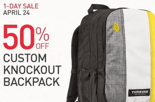 Illustration for article titled [GONE] 50% off a Custom Knockout Backpack from Timbuk2