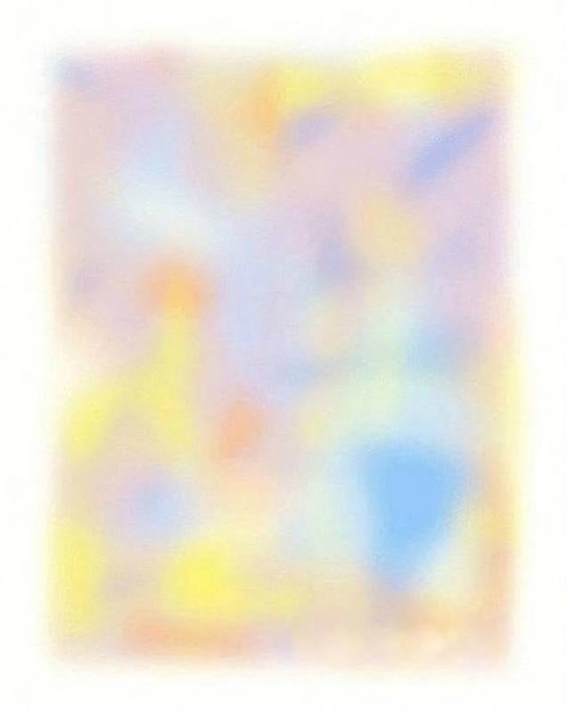This colorful image disappears completely if you keep staring at it
