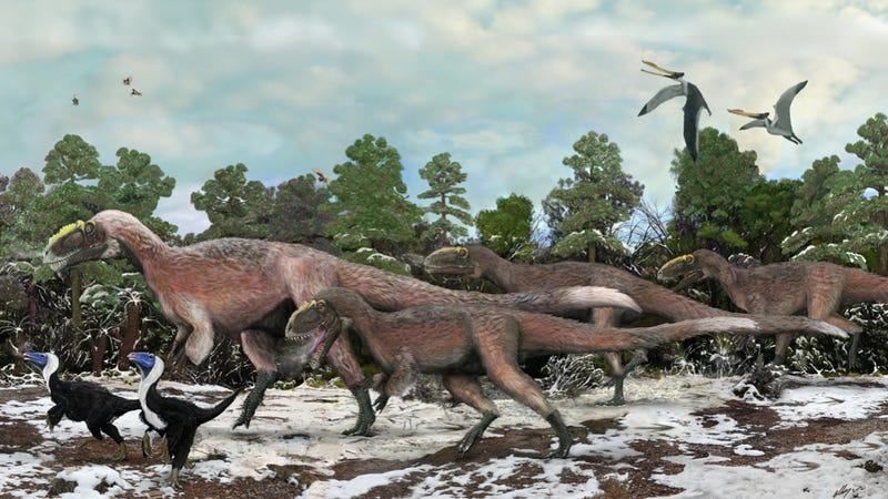 Illustration for article titled Hard evidence that giant tyrannosaurs were cuter than you ever thought possible
