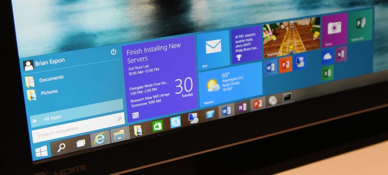Illustration for article titled Windows 10 Hands-On: Well Hello There, Start Menu!