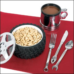 Illustration for article titled Rev Up A Romantic Dinner With Gearhead Place Setting