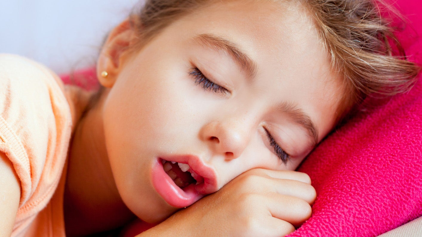 Excellent, support. little girl sleeping facial