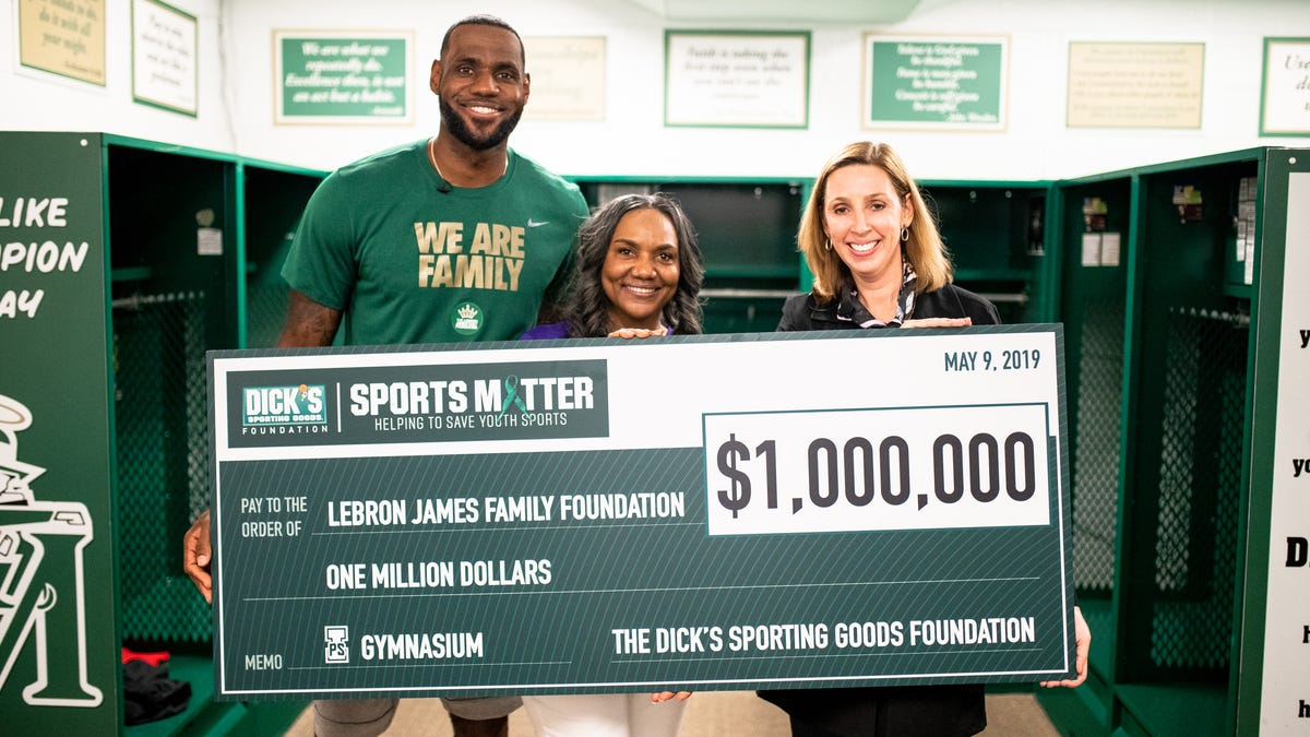 new product 6481e aa8b9 LeBron James' I Promise School Receives $1M Grant from ...