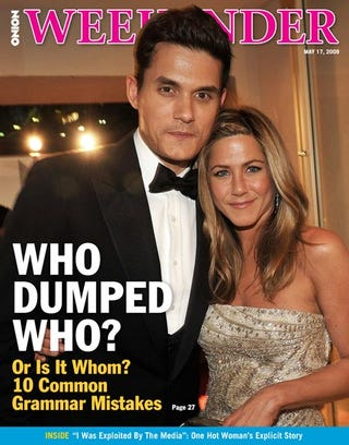 Illustration for article titled Who Dumped Who? Or Is It Whom?  10 Common Grammar Mistakes