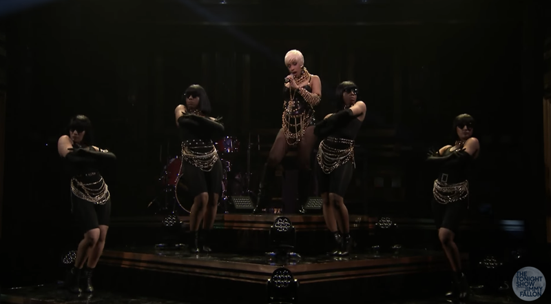 Cardi B performs on The Tonight Show.