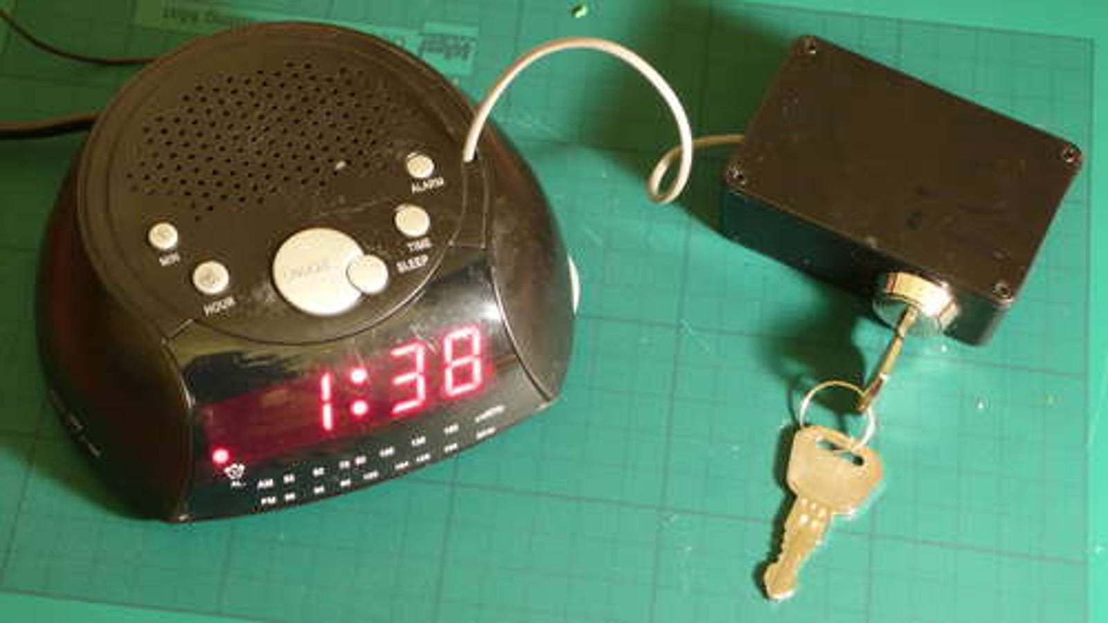 DIY: Safety Alarm Clock Locks In Your Snooze and Throws Away