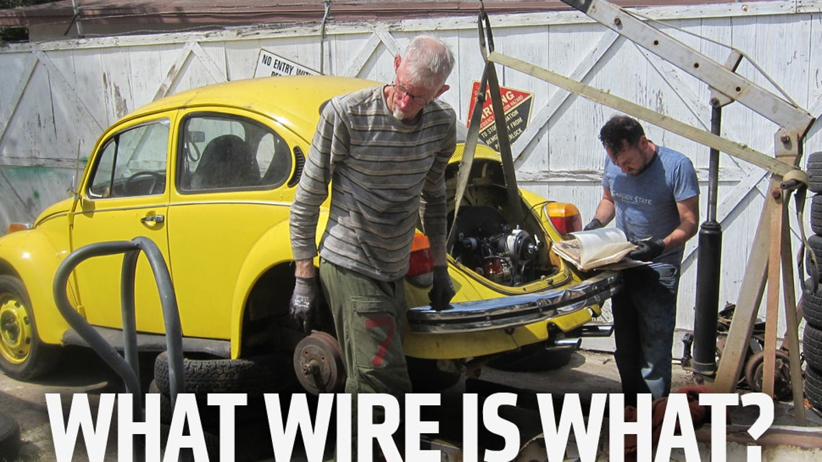 Its Back In The How To Put An Engine A Vintage Beetle 1973 Vw Compartment Wiring